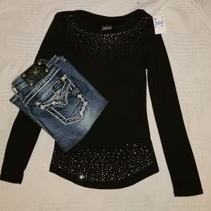 Miss Me & Justice Girl's Outfit sz 10